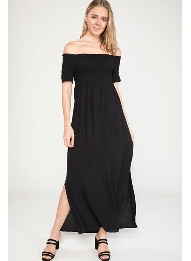 DeFacto Lastik Dikişli Elbise Siyah